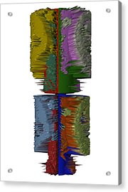 Bart Simpson's Spine Acrylic Print by Robert Margetts