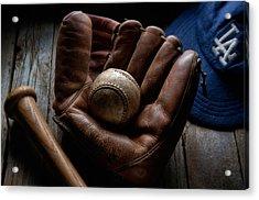 Baseball Glove Acrylic Print by Bob Nardi