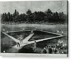 Baseball In 1846 Acrylic Print by Omikron