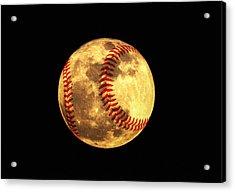 Baseball Moon Acrylic Print by Bill Cannon