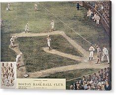 Baseball, New York At Boston, 1889 Acrylic Print by Everett