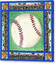 Baseball Acrylic Print by Pamela  Corwin