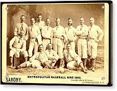 Baseball Panoramic Metropolitan Nine Circa 1882 Acrylic Print by Pg Reproductions