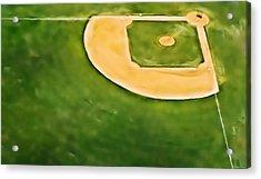 Baseball Acrylic Print by Patrick M Lynch
