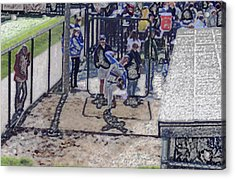 Baseball Pitcher Warming Up Digital Art Acrylic Print by Thomas Woolworth