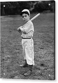 Baseball Player Acrylic Print by L M Kendall