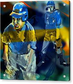 Baseball Stances  Acrylic Print by James Thomas