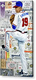 Baseball Tickets Acrylic Print by Michael Lee