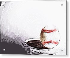 Baseball Acrylic Print by Tilly Williams