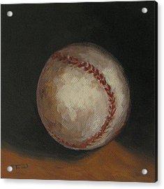 Baseball Acrylic Print by Torrie Smiley