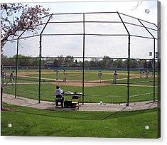 Baseball Warm Ups Acrylic Print by Thomas Woolworth