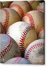 Baseballs - Depth Of Field Acrylic Print by Ben Haslam