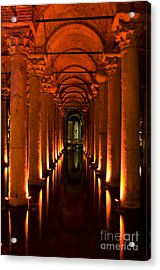 Basilica Cistern Acrylic Print by Leslie Leda