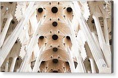 Basilica De La Sagrada Familia In Barcelona Acrylic Print by Beth Riser