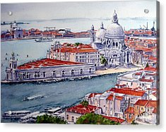 Basillica Di Santa Maria Della Salute Acrylic Print by Ronald Tseng