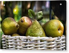 Basket Of Pears Acrylic Print