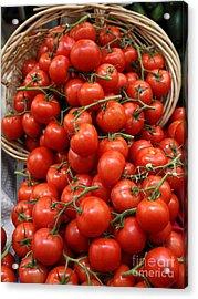 Basket Of Tomatoes - 5d17064 Acrylic Print