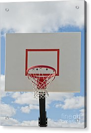 Basketball Backboard With Hoop And Net Acrylic Print by Thom Gourley/Flatbread Images, LLC