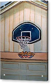 Basketball Hoop Sketchbook Project Down My Street Acrylic Print by Irina Sztukowski