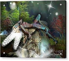 Basking In The Moonlight Acrylic Print by Georgina Hannay