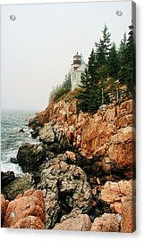 Bass Harbor Light Acrylic Print by Mary Hershberger