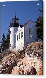 Bass Harbor Lighthouse Acadia National Park Acrylic Print by Glenn Gordon