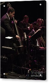 Bass Player Jams Jazz Acrylic Print by Darleen Stry