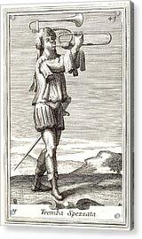 Bass Trombone, 1723 Acrylic Print by Granger