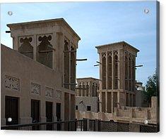 Acrylic Print featuring the photograph Bastakiah Quarter by Steven Richman
