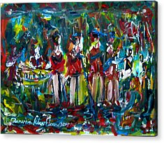 Batak Music And Dance By The Band Samosir Cottage Dance Acrylic Print