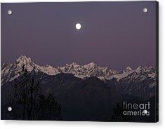 Acrylic Print featuring the photograph Bathed In Moonlight by Fotosas Photography
