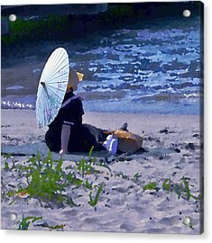 Bather By The Bay - Square Cropping Acrylic Print