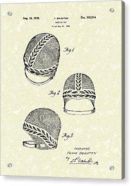 Bathing Cap 1936 Patent Art Acrylic Print