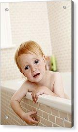 Bathing Child Acrylic Print by Ian Boddy