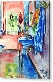 Bathroom Acrylic Print by Mike N