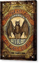 Bats Blood Acrylic Print