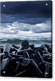 Batteries Polluting The Environment Acrylic Print by Richard Kail