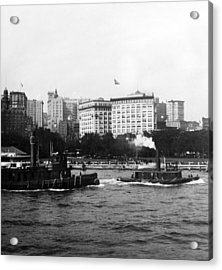 Battery Park And Lower Manhattan New York City - C 1904 Acrylic Print by International  Images