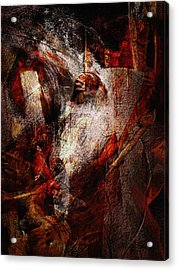 Battle Clash Acrylic Print by Jean Moore