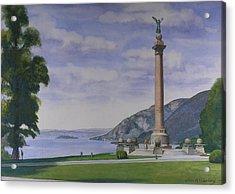 Battle Monument  Acrylic Print by Glen Heberling