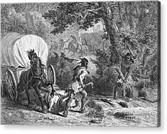 Battle Of Bloody Brook 1675 Acrylic Print by Photo Researchers