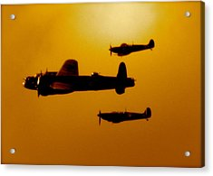 Acrylic Print featuring the photograph Battle Of Britain Flight At Dusk by John Colley