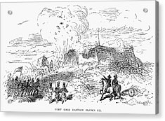 Battle Of Fort Erie, 1814 Acrylic Print by Granger