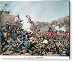 Battle Of Franklin, 1864 Acrylic Print by Granger