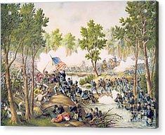 Battle Of Spottsylvania May 1864 Acrylic Print by American School
