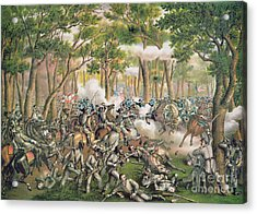 Battle Of The Wilderness May 1864 Acrylic Print by American School