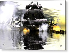 Battle Smoke Acrylic Print by Claude McCoy
