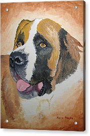 Acrylic Print featuring the painting Baxter by Norm Starks
