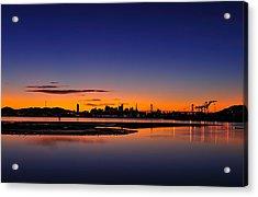 Bay Area Sunset Acrylic Print by Richard Leon
