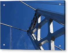 Bay Bridge And Blue Sky, San Francisco Acrylic Print by Jamie Jennings www.JJphotos.ca